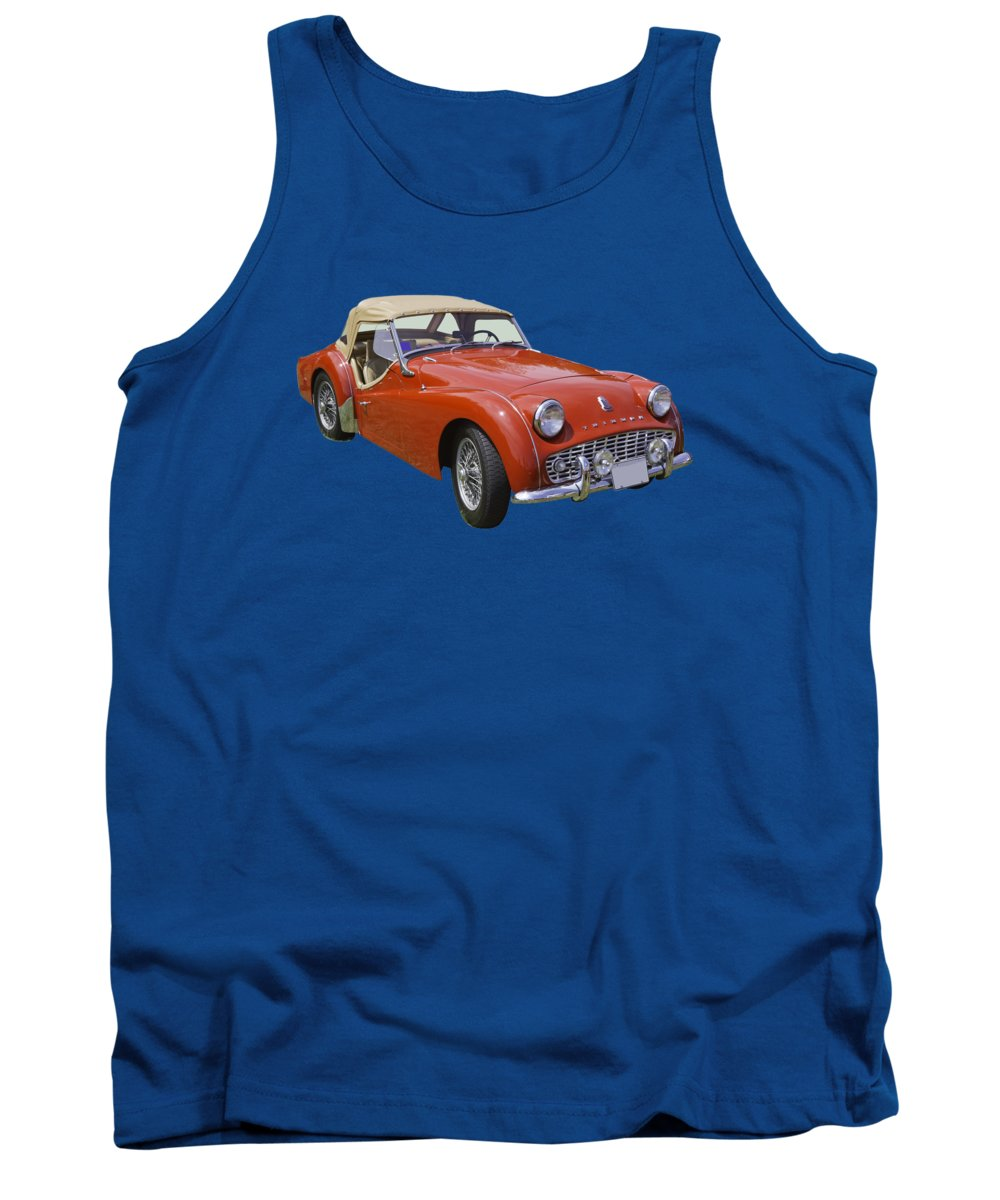 1957 Triumph Tr3 Convertible Sportscar Tank Top For Sale By Keith