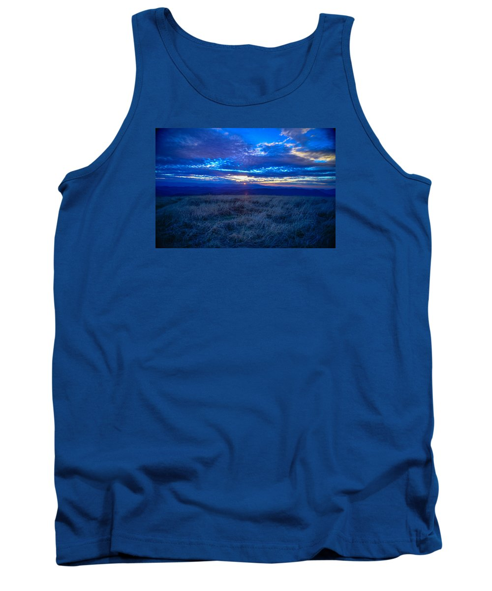 Blue Ridge Mountains Tank Top featuring the photograph Blue Ridge Sunset by Ryan Phillips