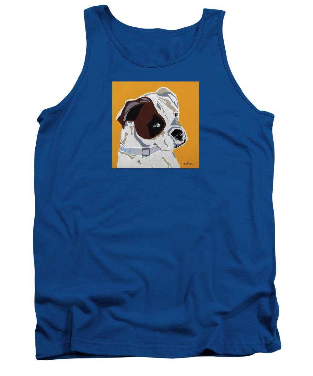 Boxer Tank Top featuring the painting Boxer by Slade Roberts