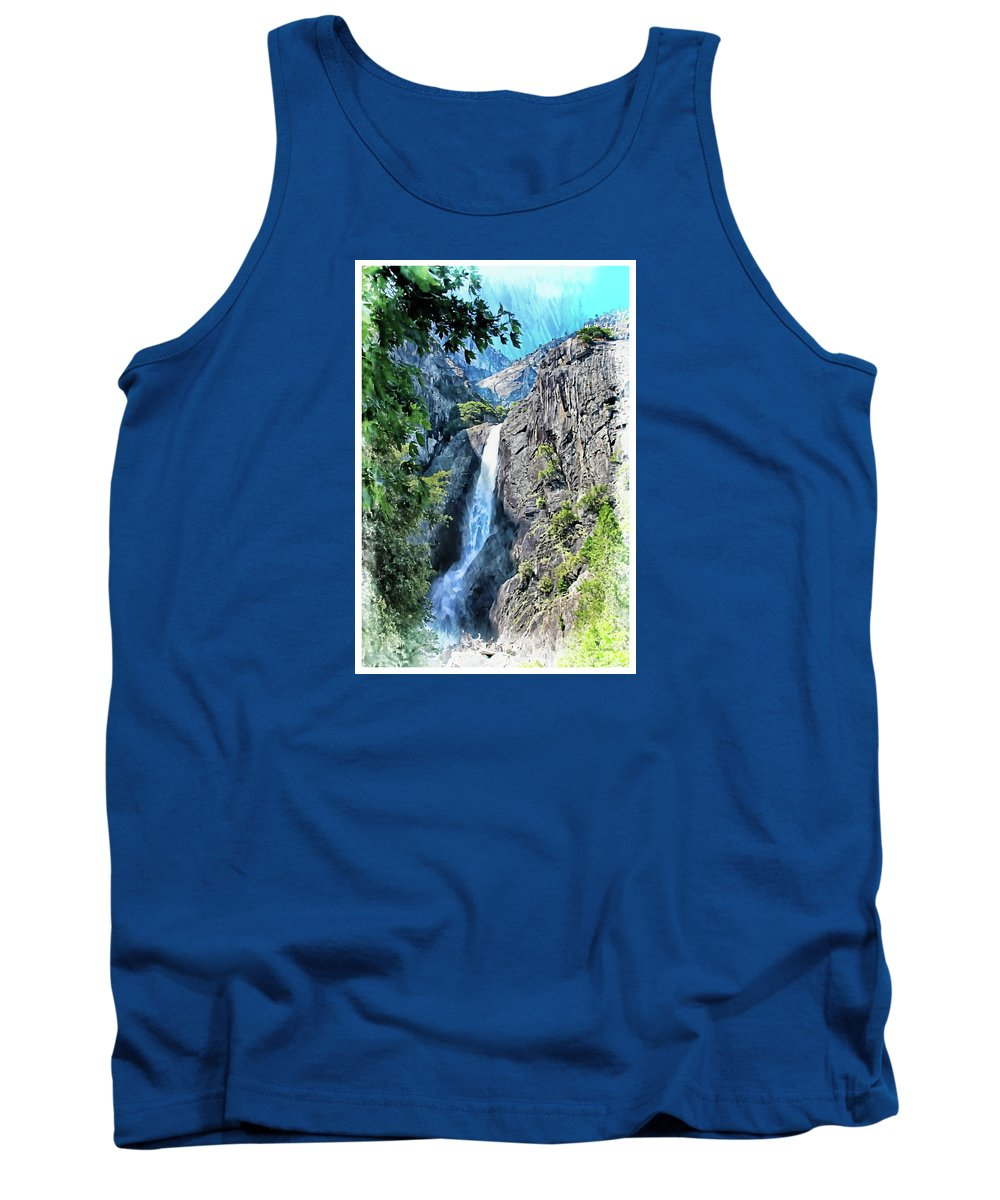 Yosemite Tank Top featuring the photograph Lower Yosemite Falls by Margie Wildblood