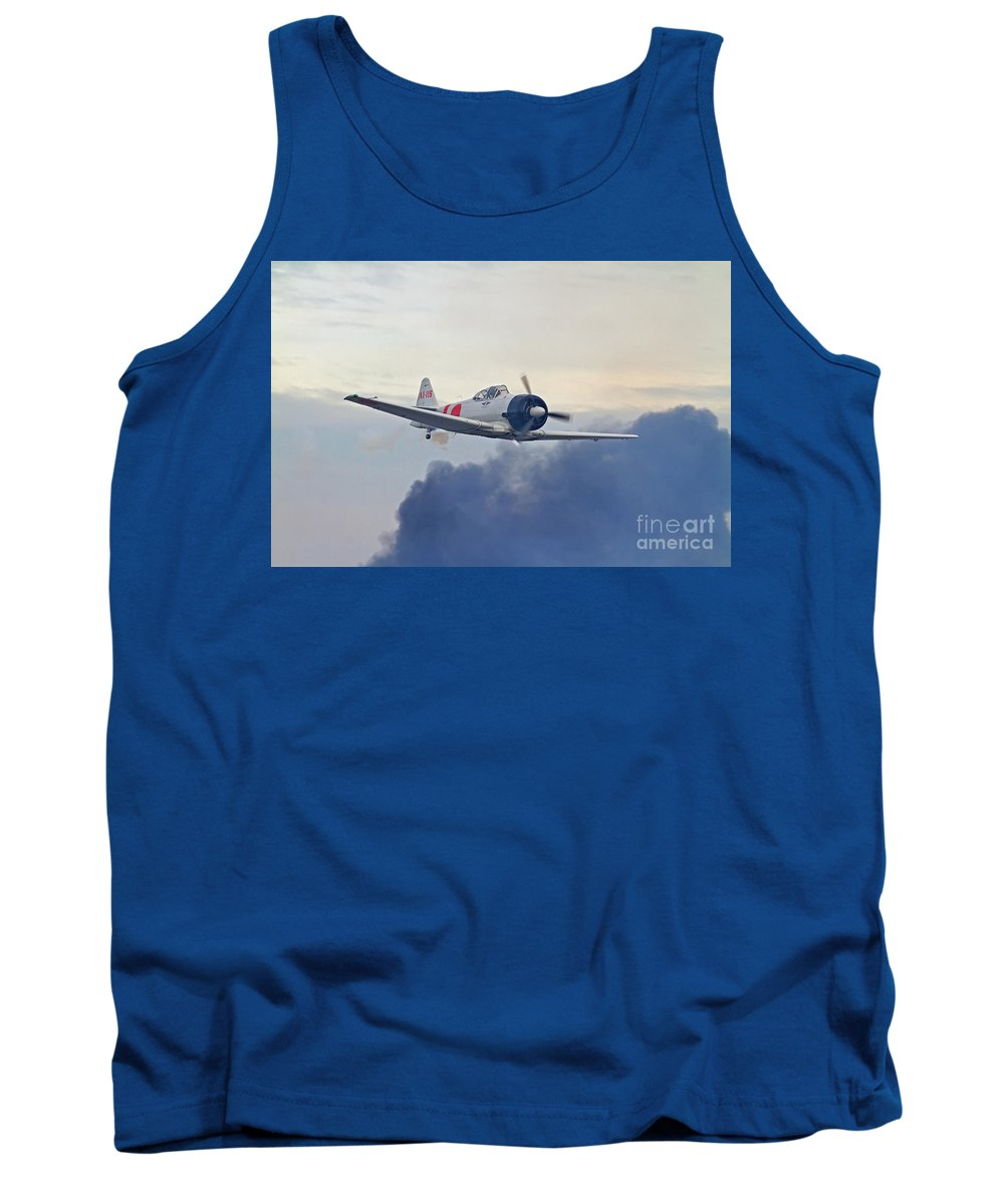 Fighter Tank Top featuring the photograph Pearl Harbor Reenactment by Kevin McCarthy