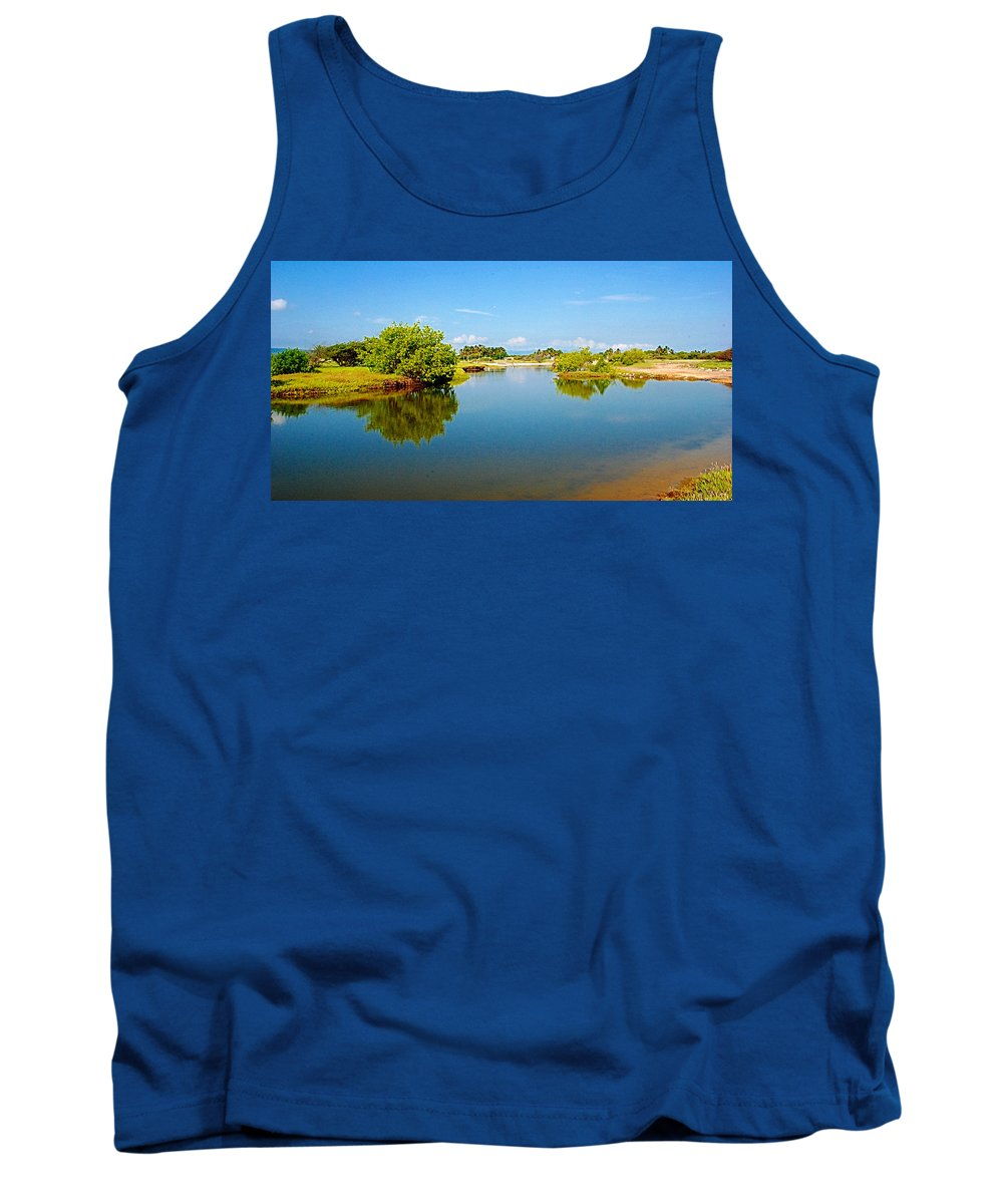 Reflects Tank Top featuring the photograph Reflects by Galeria Trompiz