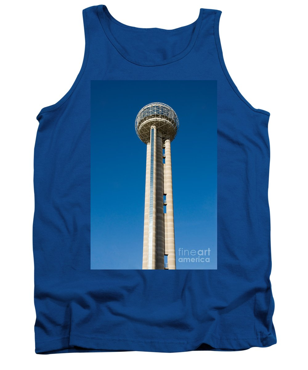 America Tank Top featuring the photograph Reunion Tower - Dallas Texas by Anthony Totah