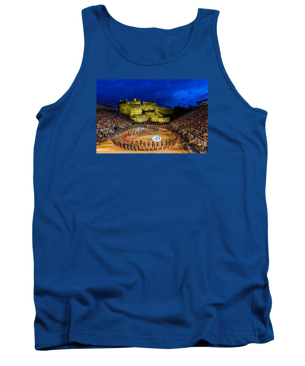 Scottish Tank Top featuring the photograph Royal Edinburgh Military Tattoo by Valerio Poccobelli