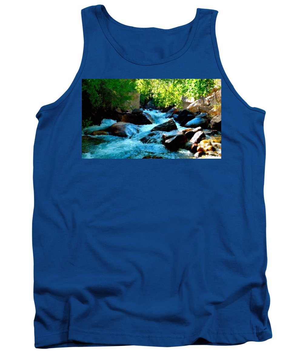Landscape Tank Top featuring the digital art Natural Landscape by Usa Map