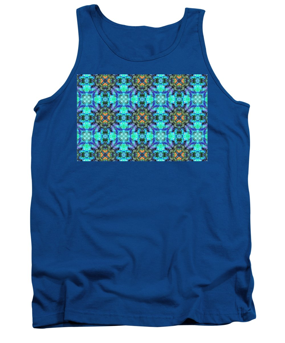 Marjan Mencin Tank Top featuring the digital art Arabesque 106 by Marjan Mencin