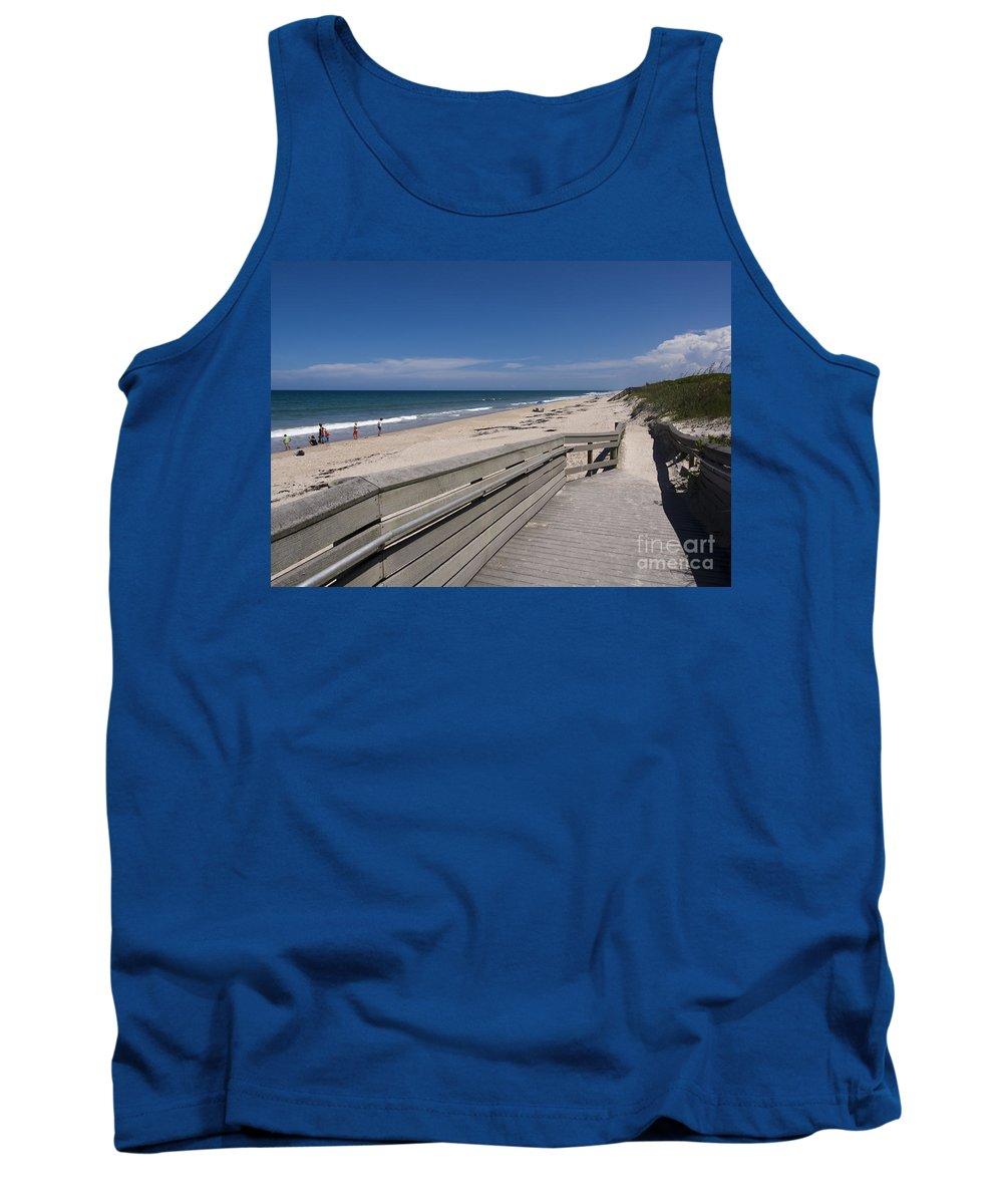 Florida Tank Top featuring the photograph Brevard County Florida Beaches by Allan Hughes