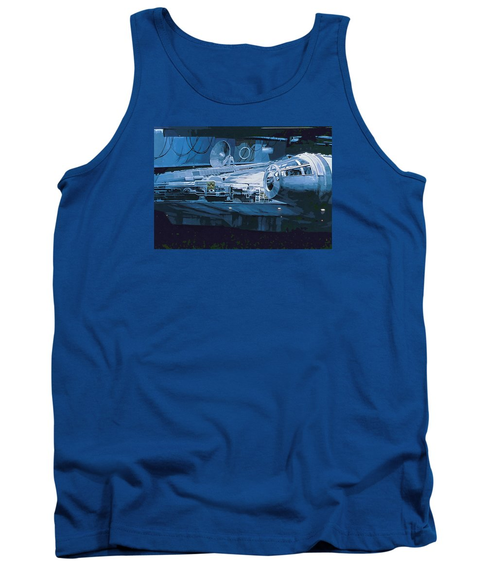 Star Wars Characters Tank Top featuring the digital art Star Wars Episode 6 Poster by Larry Jones
