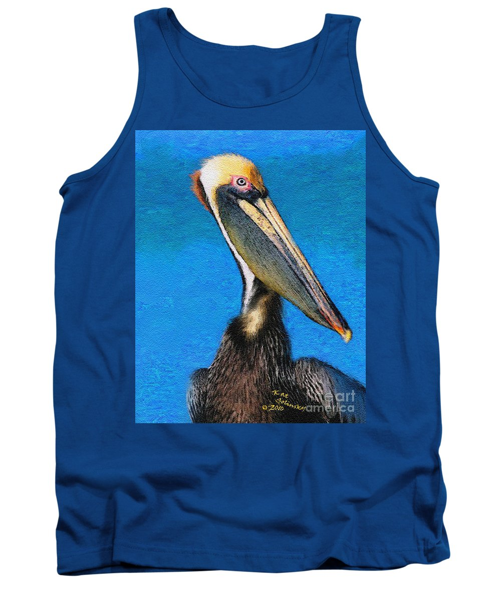 Birds Tank Top featuring the painting A Watchful Eye by Kat Solinsky
