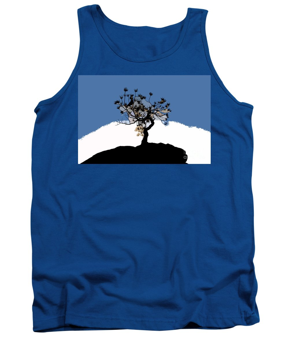 Tree Tank Top featuring the painting A Will To Live by David Lee Thompson