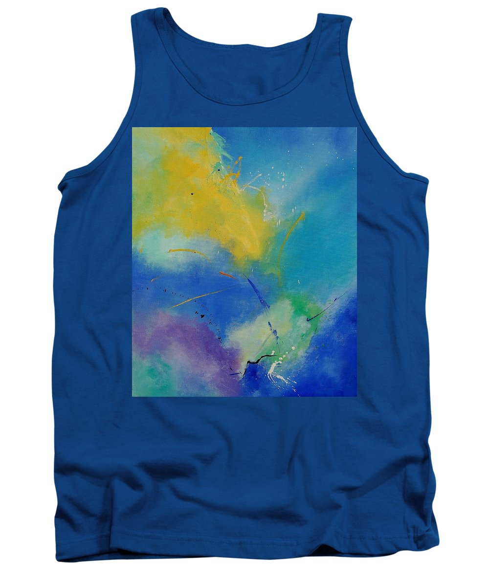 Abstract Tank Top featuring the painting Abstract 564897 by Pol Ledent