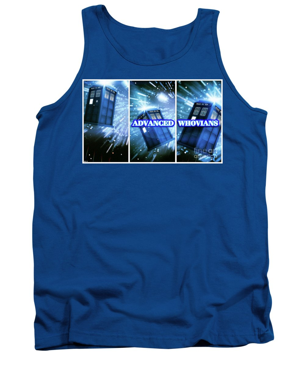 Doctor Who Tank Top featuring the digital art Advanced Whovians Alt by Robert Radmore