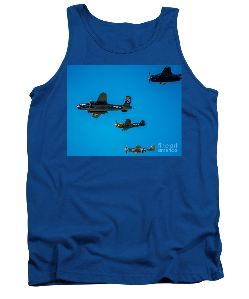 Airplanes Tank Top featuring the photograph Air America by Stephen Whalen