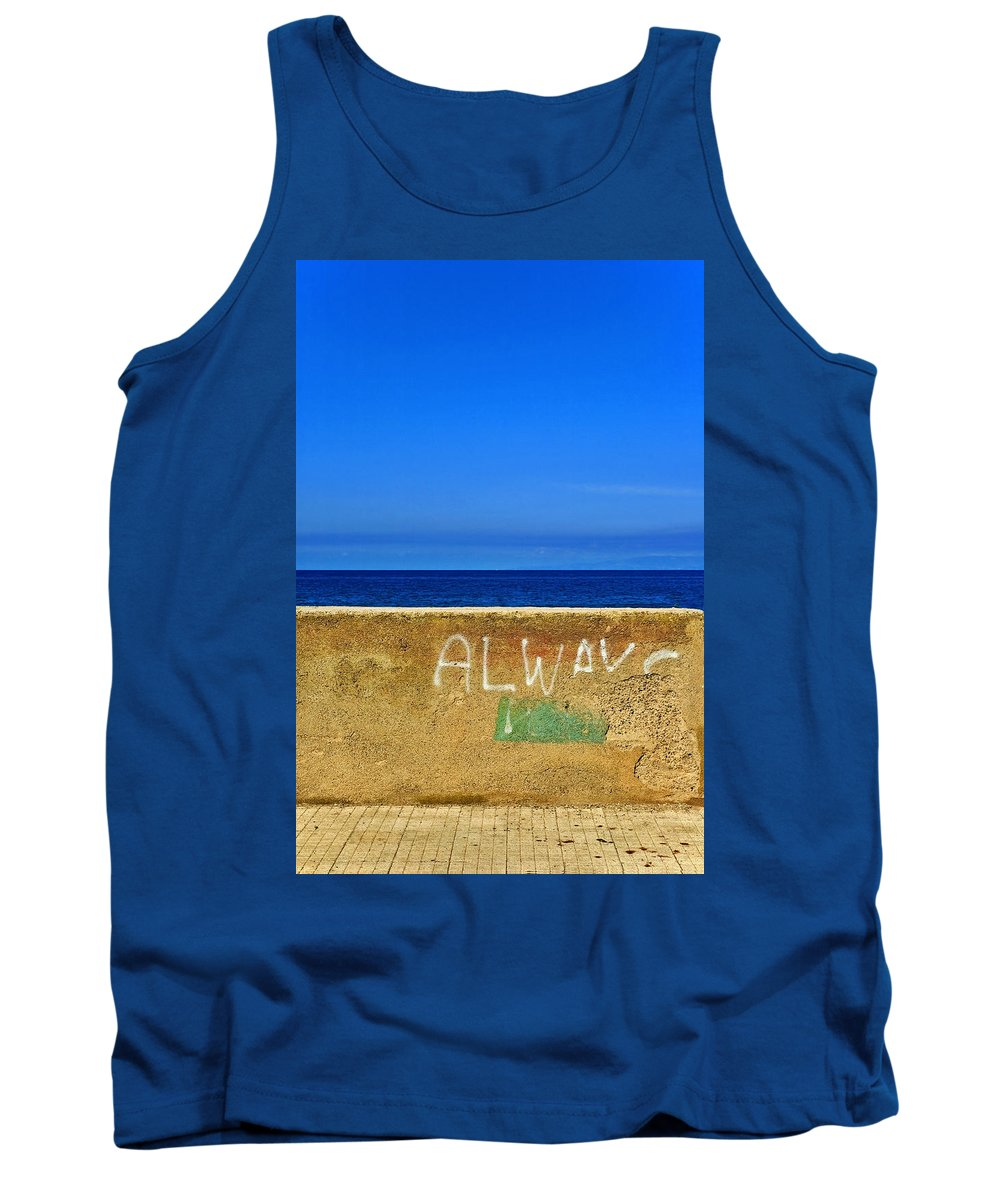 Graffiti Tank Top featuring the photograph Always by Silvia Ganora