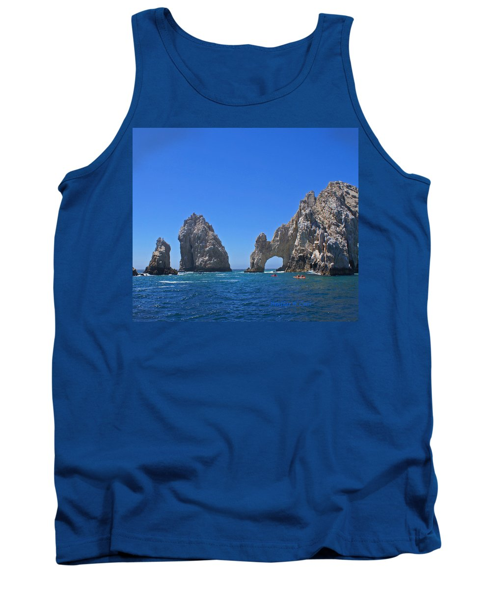 Mexico Tank Top featuring the photograph Arch At Cabo San Lucas by Heather Coen