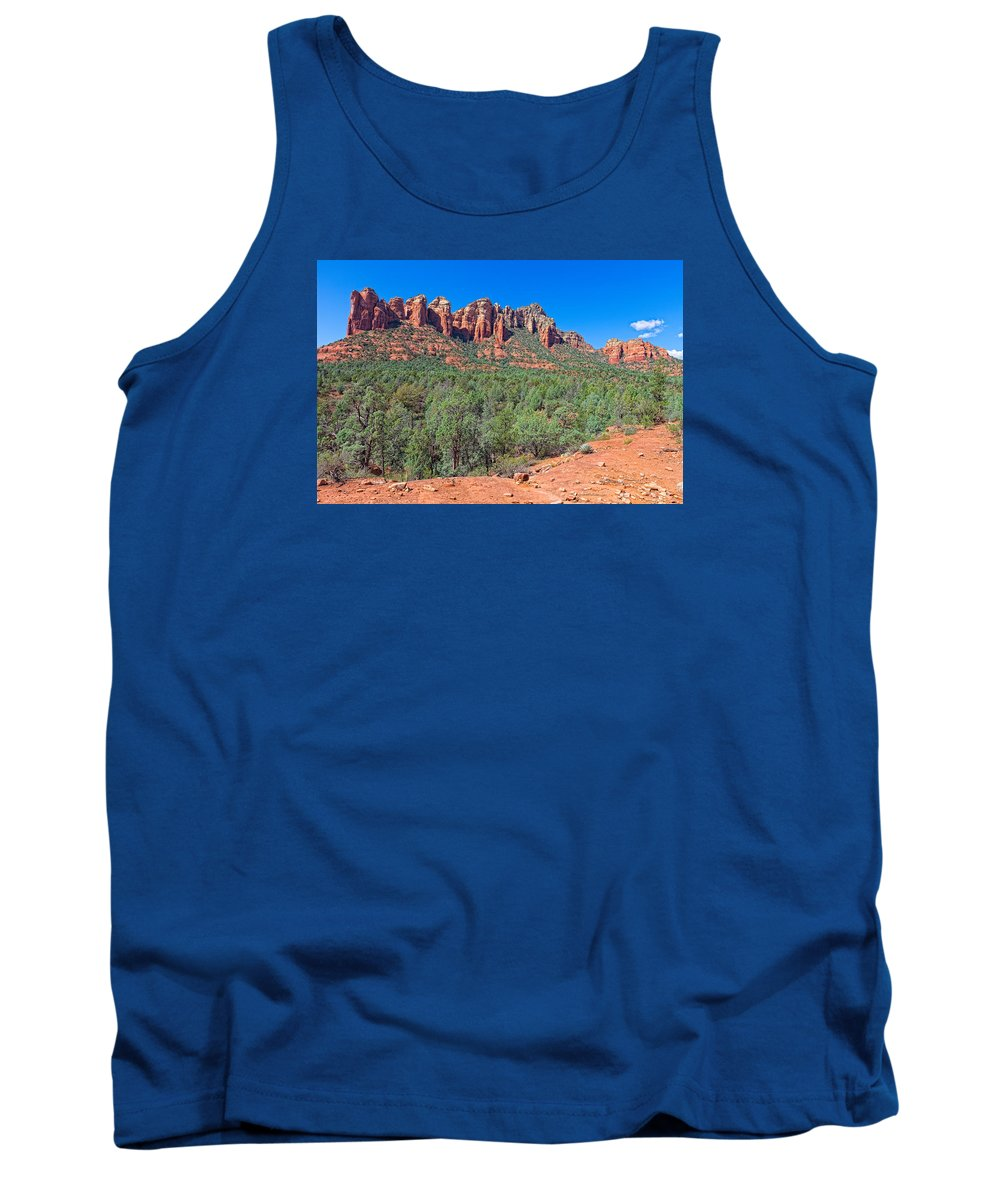 Arizona Tank Top featuring the photograph Arizona-sedona-soldier's Pass Trail by Arlene Waller