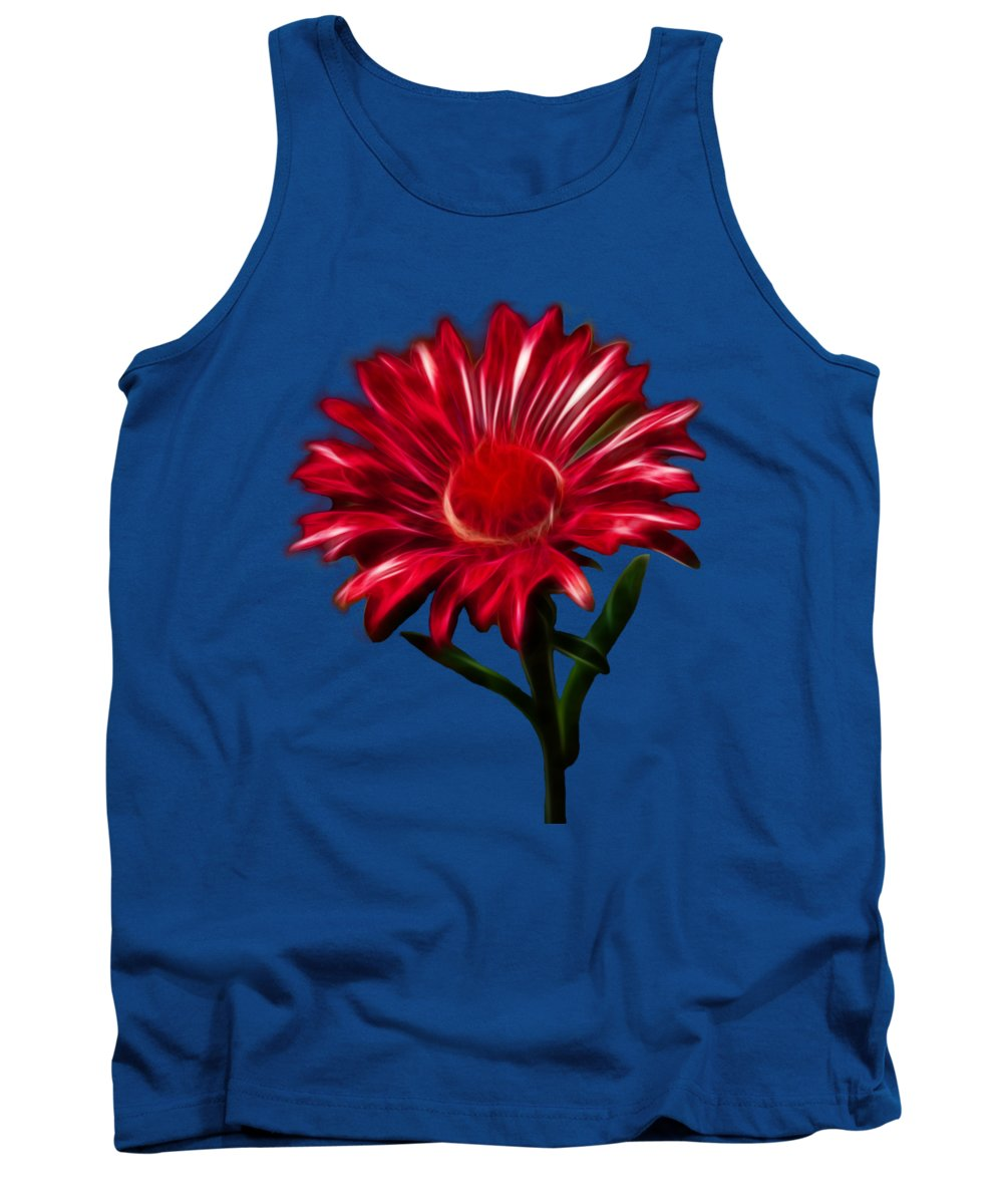 Daisy Tank Top featuring the photograph Red Daisy by Shane Bechler