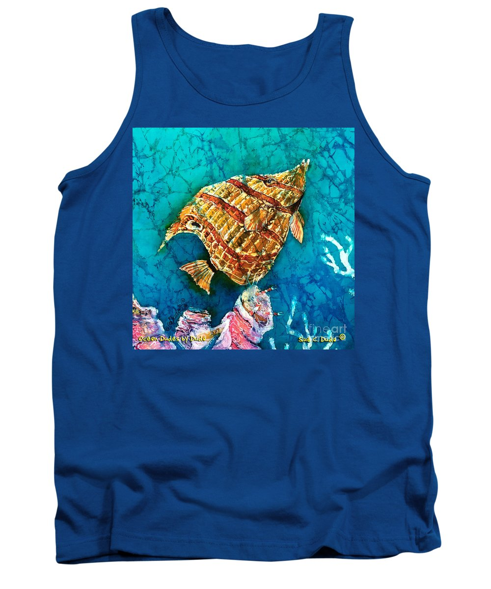 Beaked Butterflyfish Tank Top featuring the painting Ascending by Sue Duda