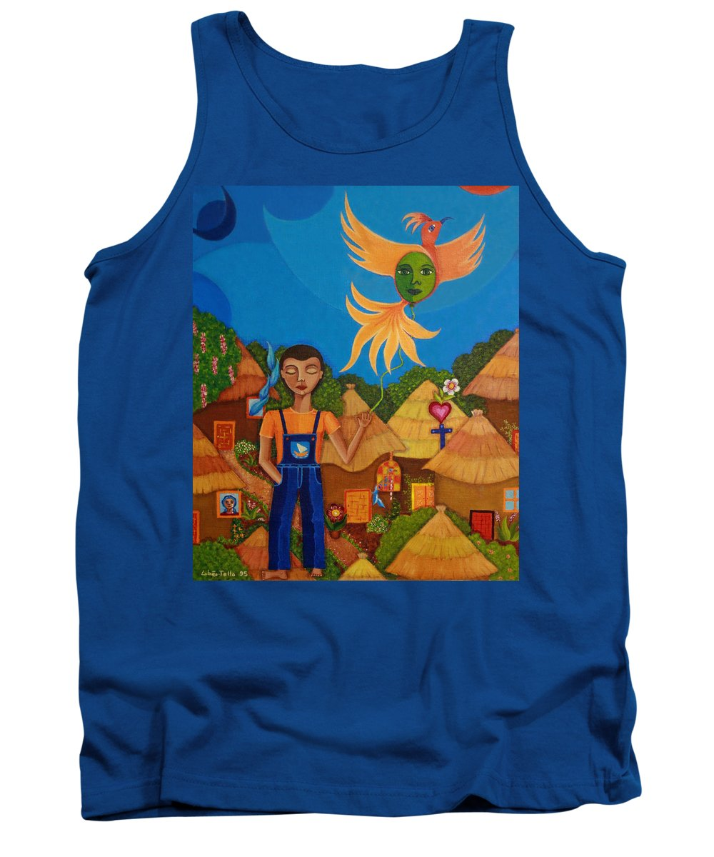 Autism Tank Top featuring the painting Autism - A Flight To... by Madalena Lobao-Tello