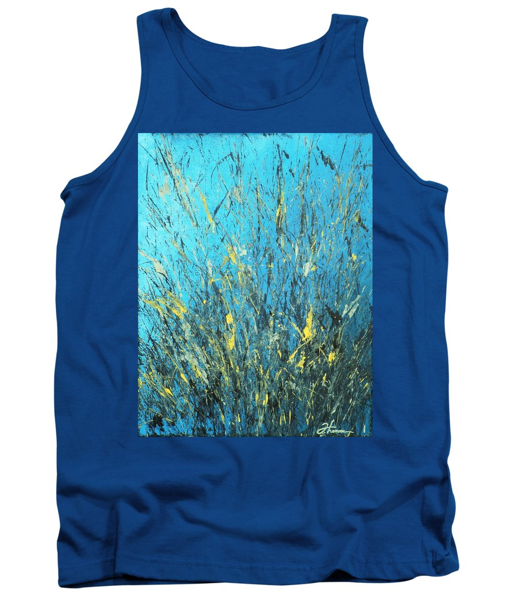 Splash Tank Top featuring the painting Awakening by Todd Hoover