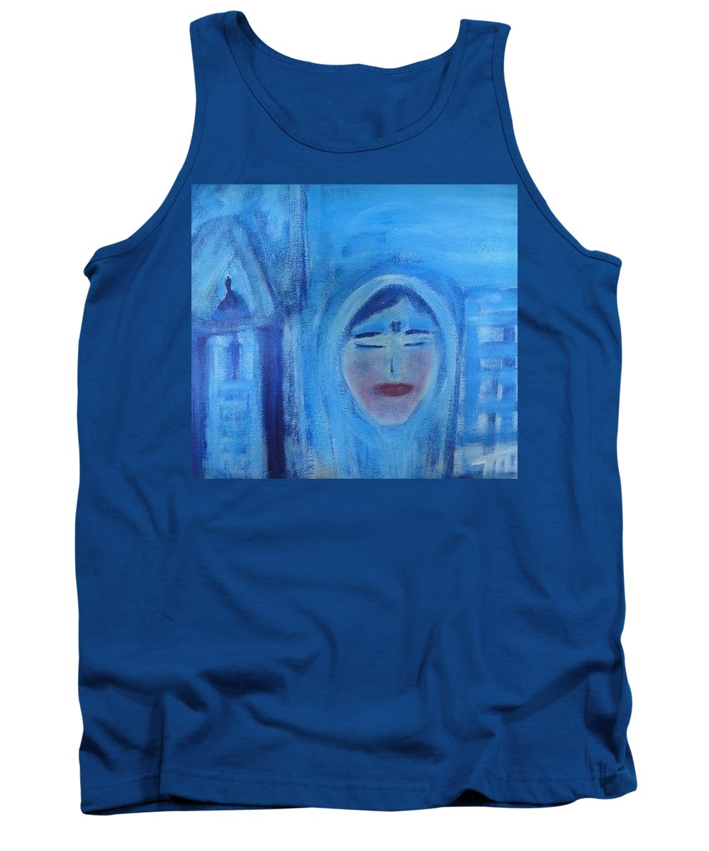 Art For Sacred Space Tank Top featuring the painting Azma by Marilyn Ingrid St-Pierre