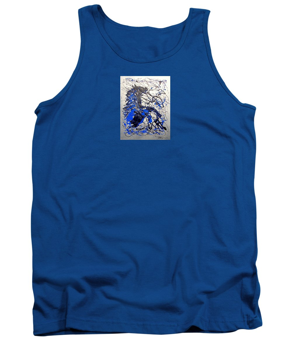 Abstract/impressionist Art Tank Top featuring the painting Azul Diablo by J R Seymour