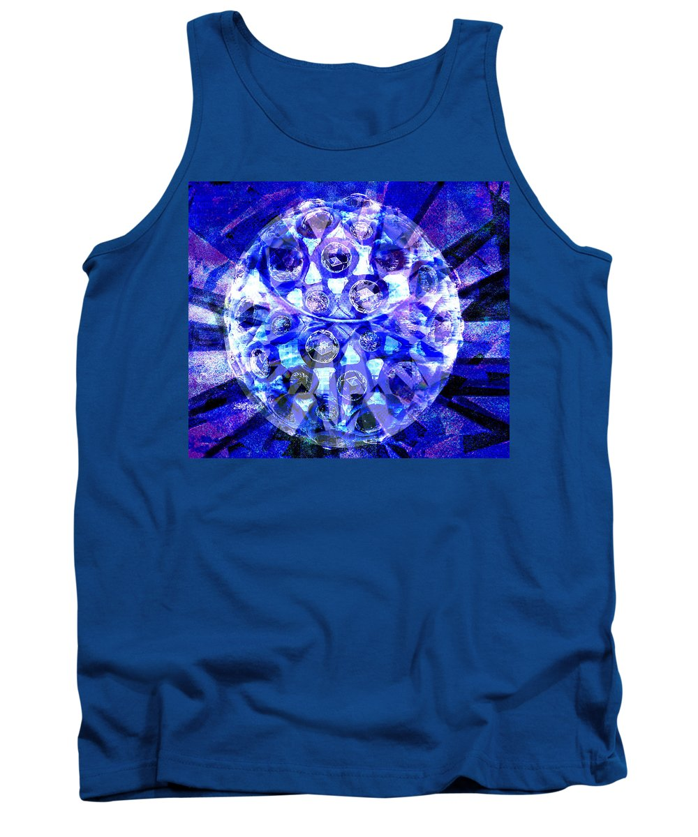 Abstract Tank Top featuring the digital art Azure Orb Of Midas by Seth Weaver