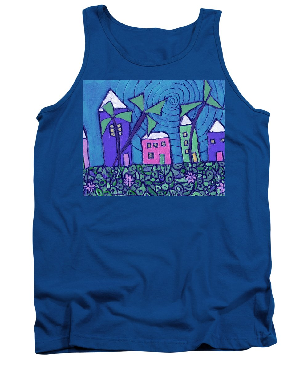 Whimsical Tank Top featuring the painting Back Home On The Island by Wayne Potrafka