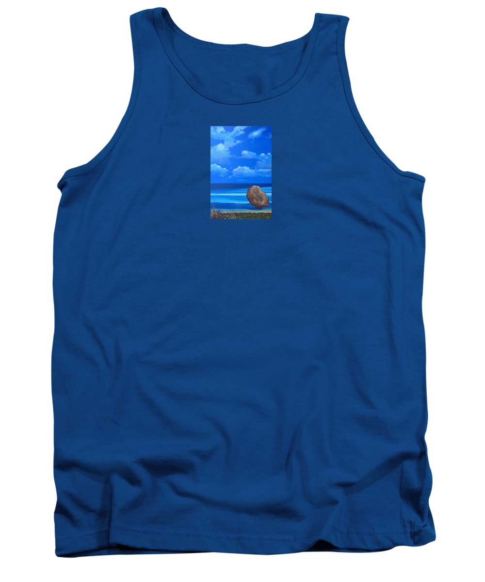 Barbados Tank Top featuring the painting Bathsheba by Hunter Jay