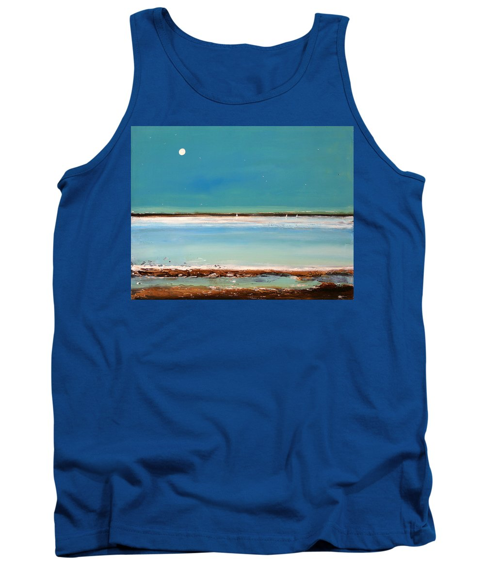 Landscape Tank Top featuring the painting Beach Textures by Toni Grote
