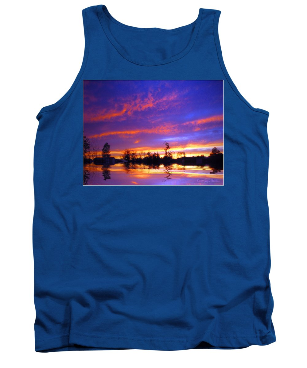 Sunset Tank Top featuring the photograph Beauty In The Storm by Joyce Dickens