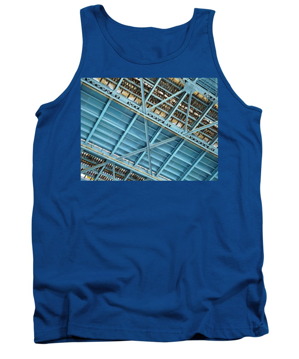 New York Tank Top featuring the photograph Below The Bridge by Valerie Ornstein