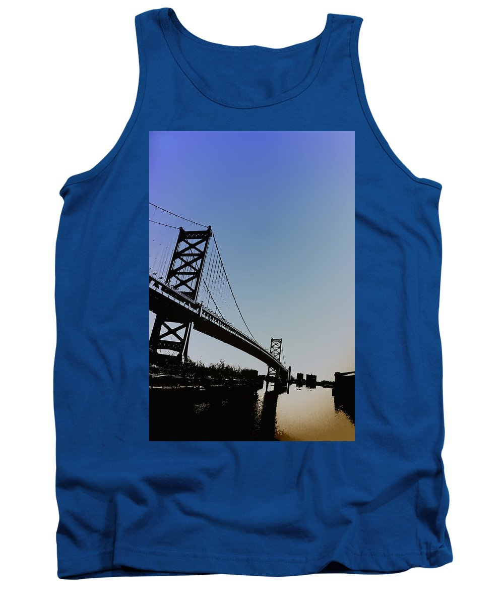 Philadelphia Tank Top featuring the photograph Ben Franklin Bridge by Bill Cannon