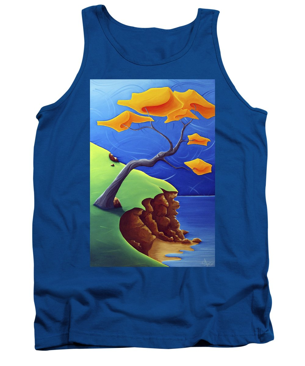 Landscape Tank Top featuring the painting Beyond Limitations by Richard Hoedl
