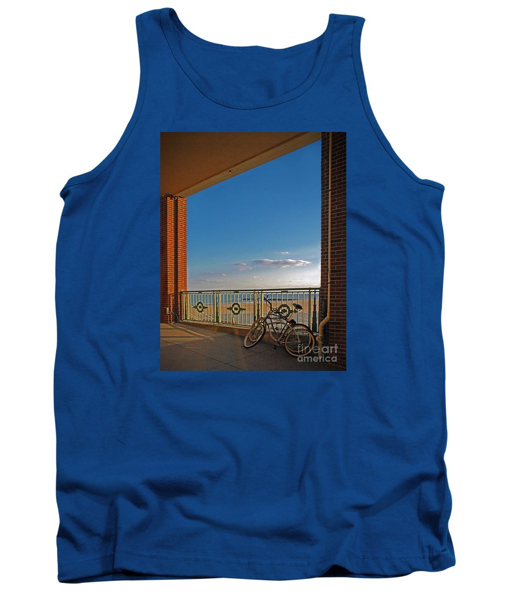 Bradley Tank Top featuring the photograph Bicycles Resting by Rich Despins