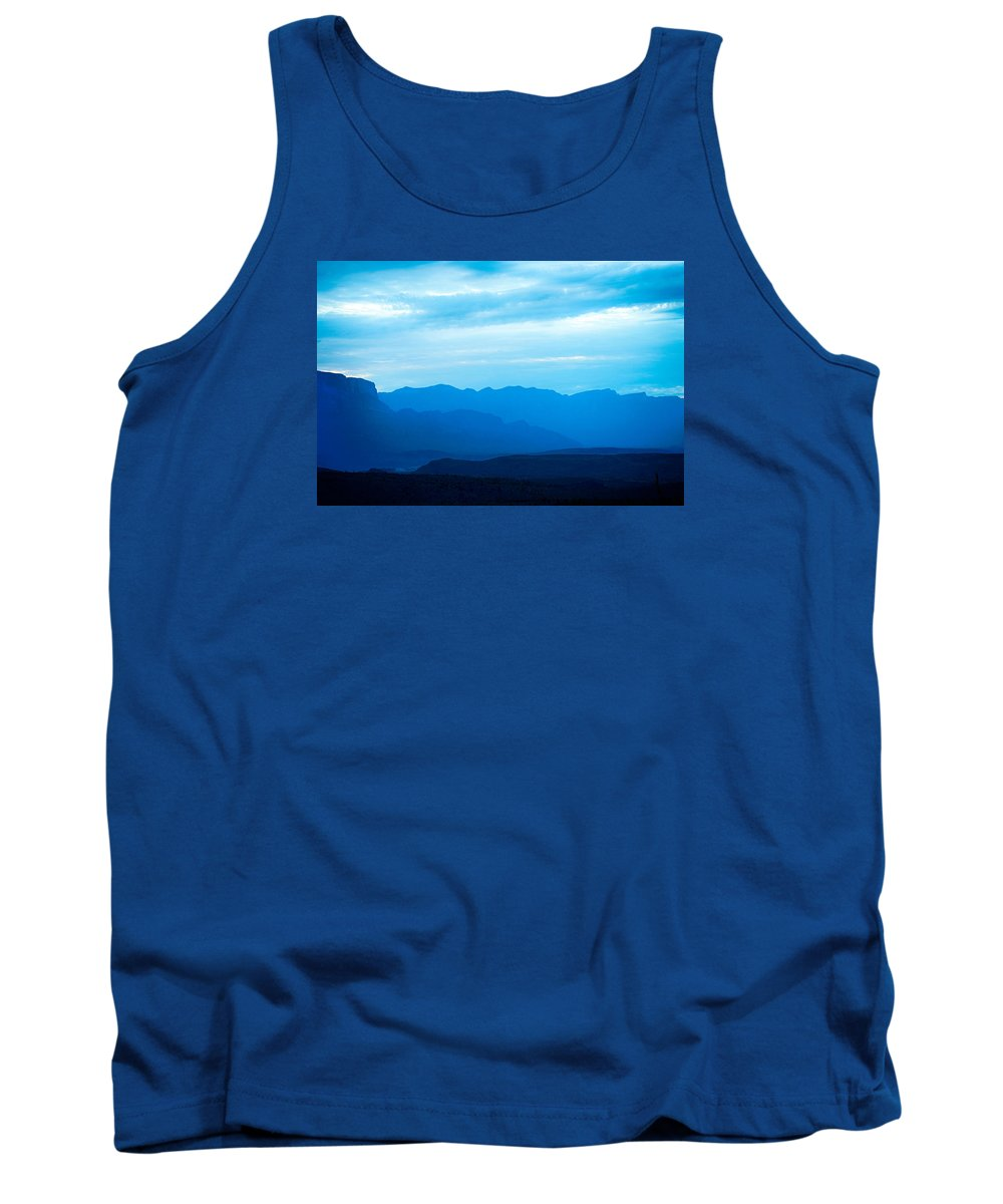 Big Bend Tank Top featuring the photograph Big Bend Blue Haze by Rospotte Photography