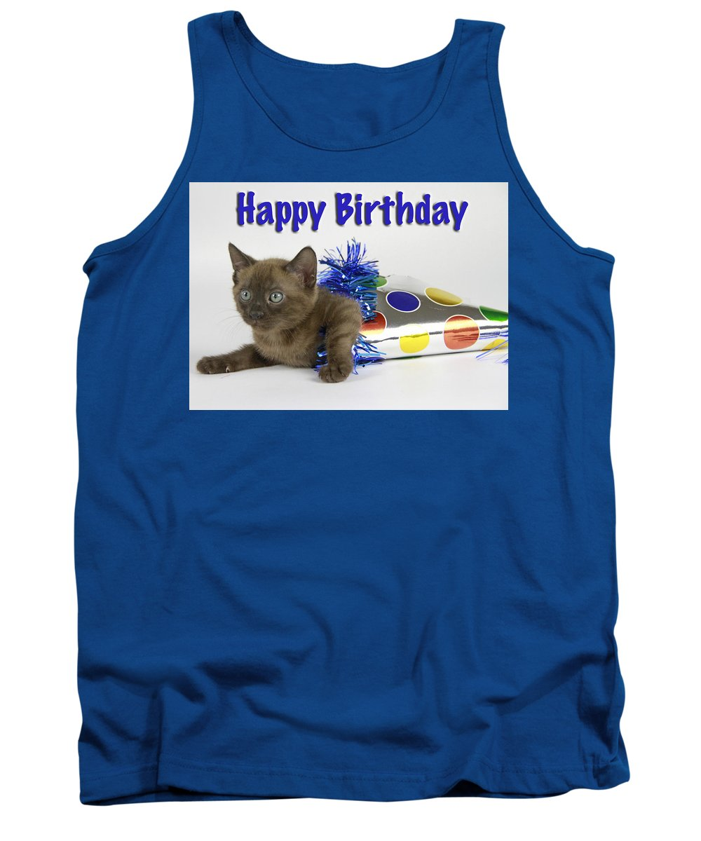 Bengal Tank Top featuring the photograph Birthday Greetings by Shoal Hollingsworth