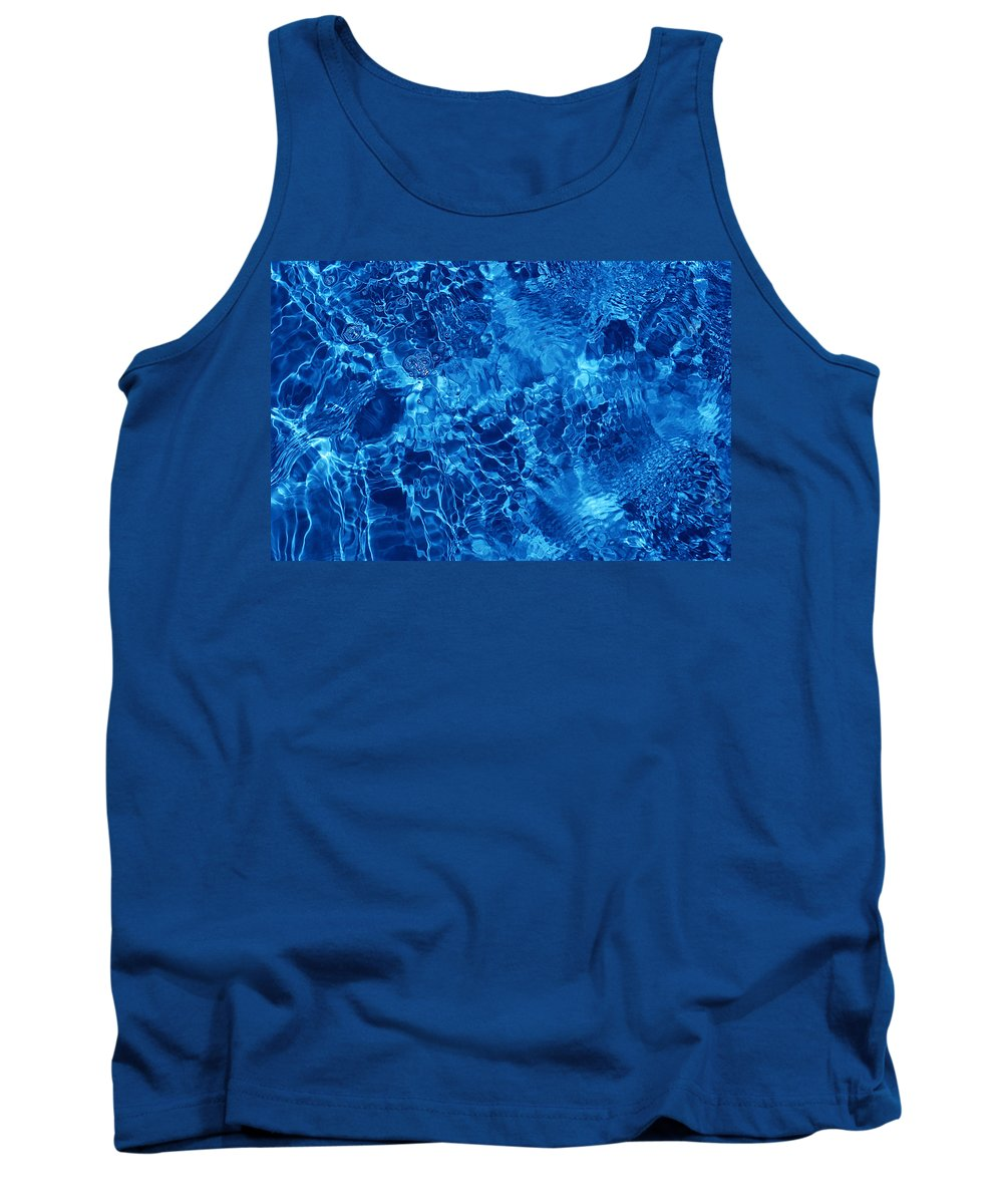 Water Tank Top featuring the photograph Blue Blue Water by Jill Reger