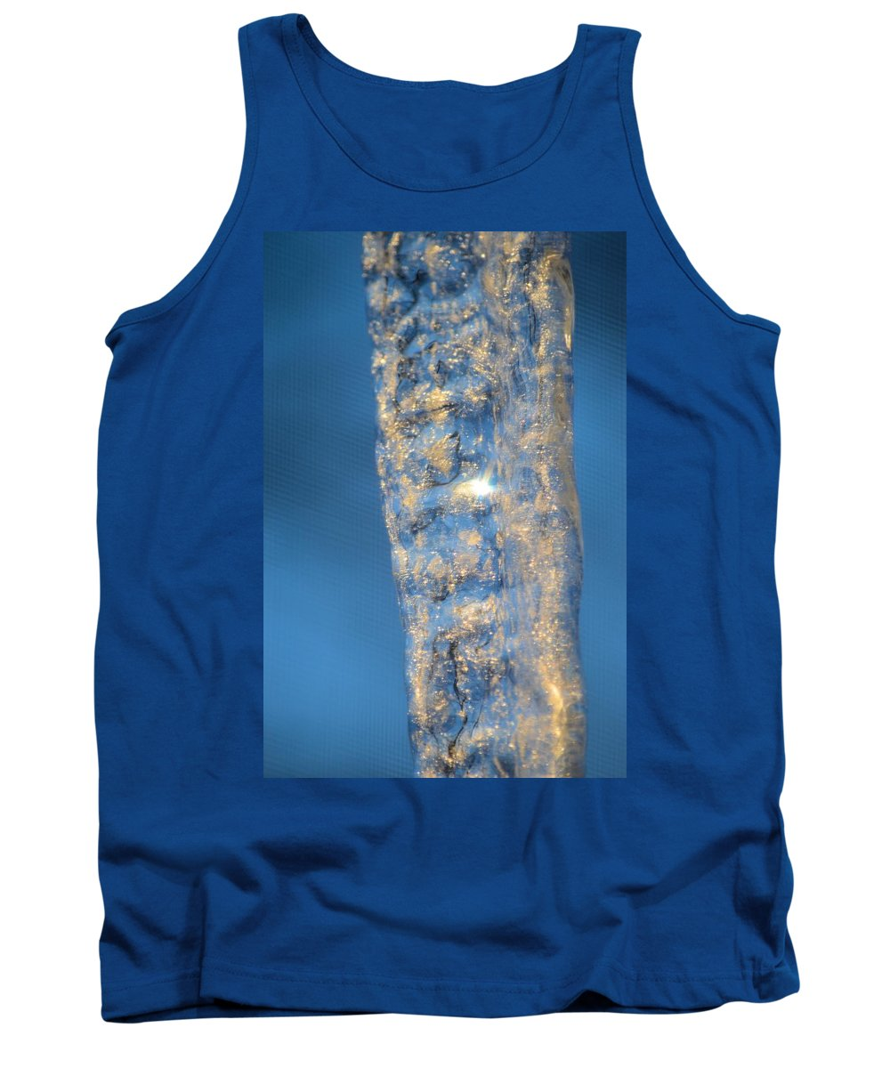 Sunrise Tank Top featuring the photograph Blue Ice 5 by Bonfire Photography