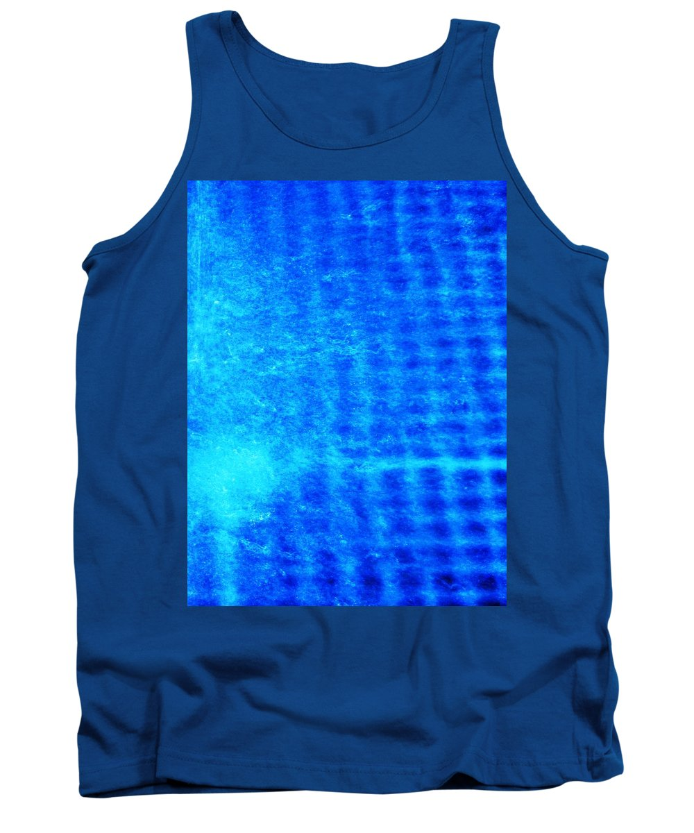 Abstract Tank Top featuring the photograph Blue Water Grid Abstract by Eric Schiabor