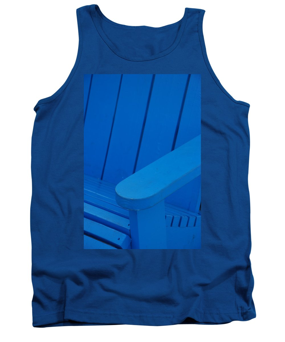 Macro Tank Top featuring the photograph Blue Wood by Rob Hans