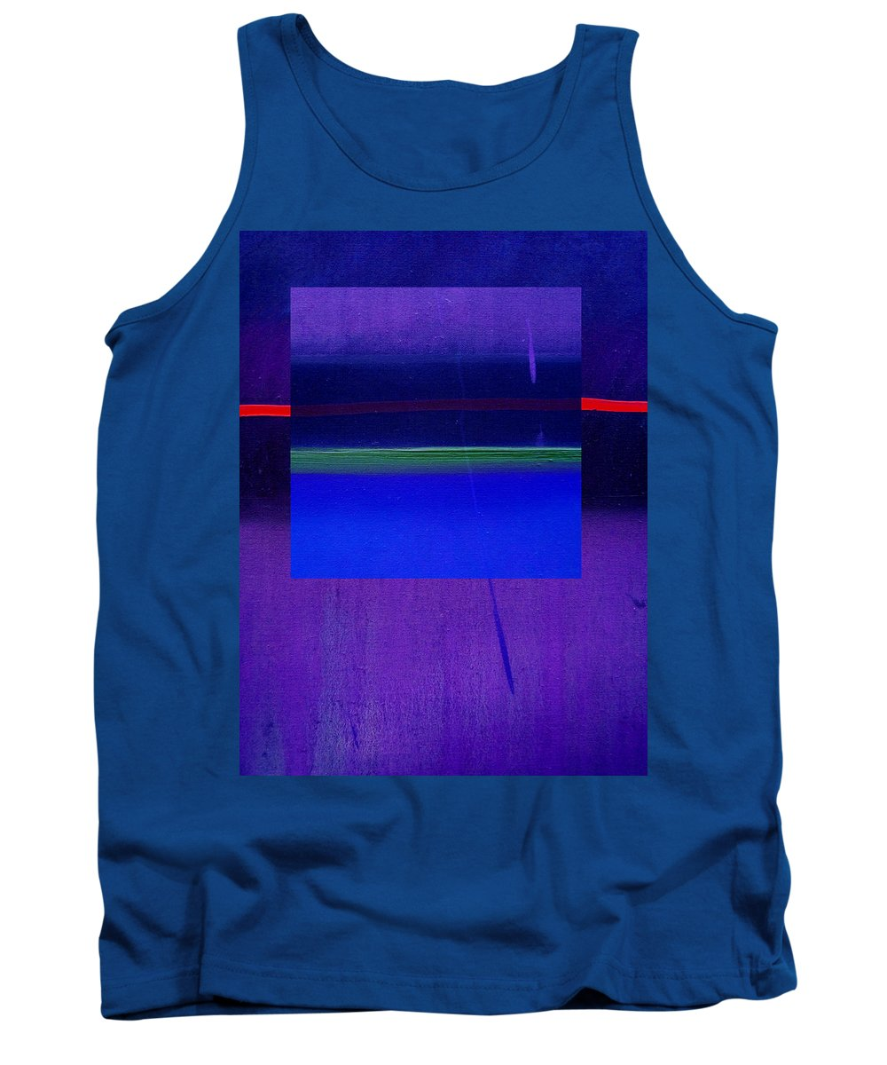 Landscape Tank Top featuring the painting Bluescape by Charles Stuart