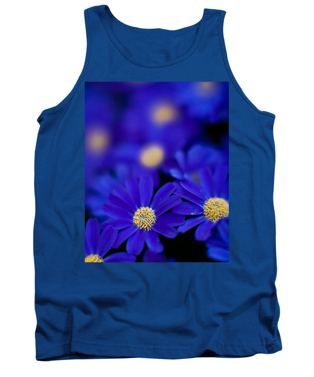 Flower Tank Top featuring the photograph Bluey Gerbera by Mike Reid