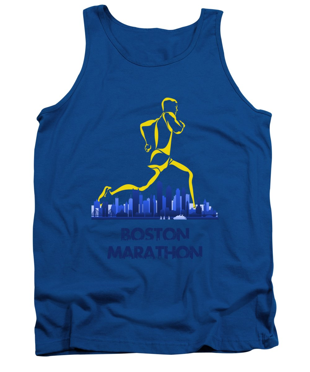 Runner Tank Top featuring the photograph Boston Marathon5 by Joe Hamilton