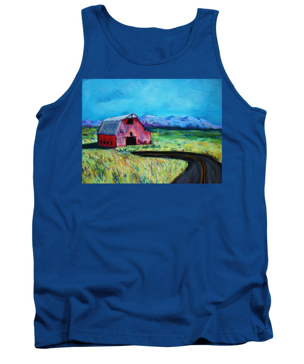 Barn Tank Top featuring the pastel Bradley's Barn by Melinda Etzold