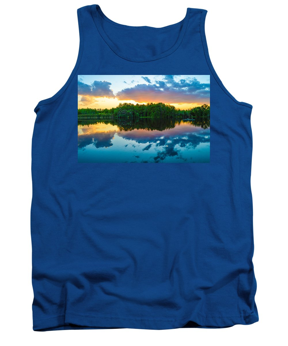 Birds Tank Top featuring the photograph Brilliant Sunset by Benjamin Andersen