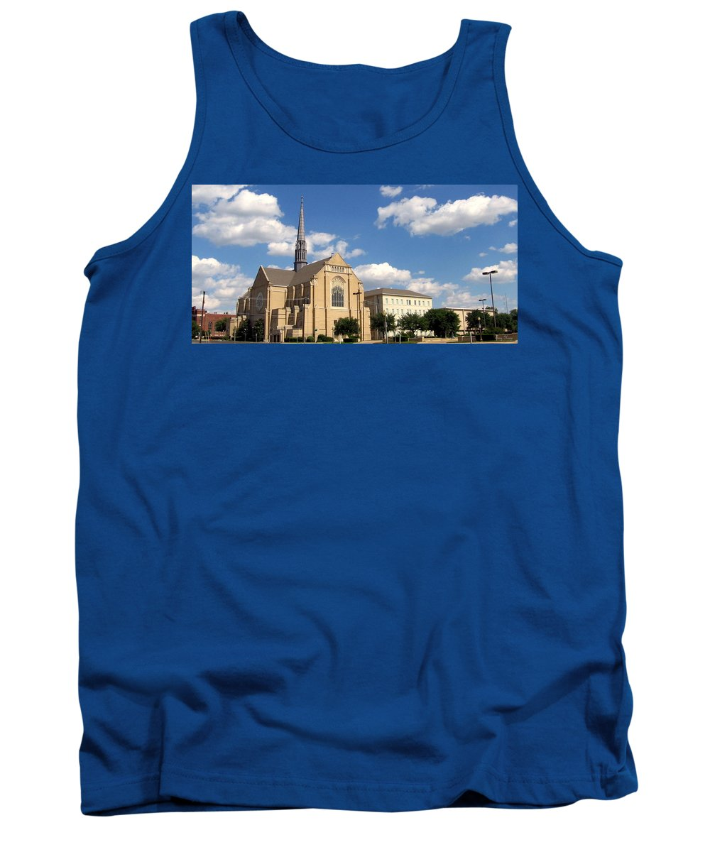 Broadway Baptist Church Tank Top featuring the photograph Broadway Baptist by Amy Hosp