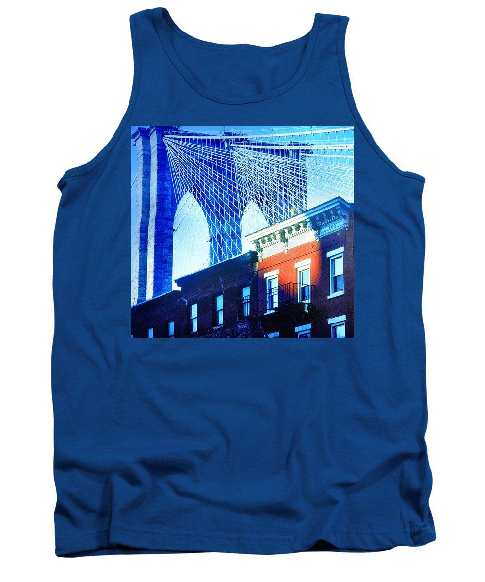 Brooklyn Tank Top featuring the photograph Brooklyn Bridge, New York City, December by Yuri Lev