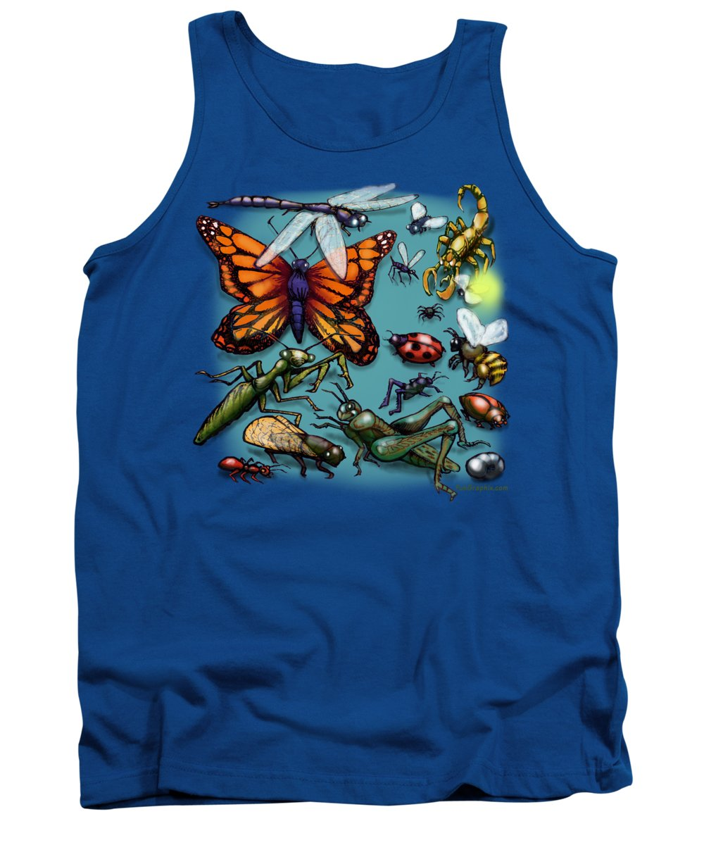 Bug Tank Top featuring the painting Bugs by Kevin Middleton