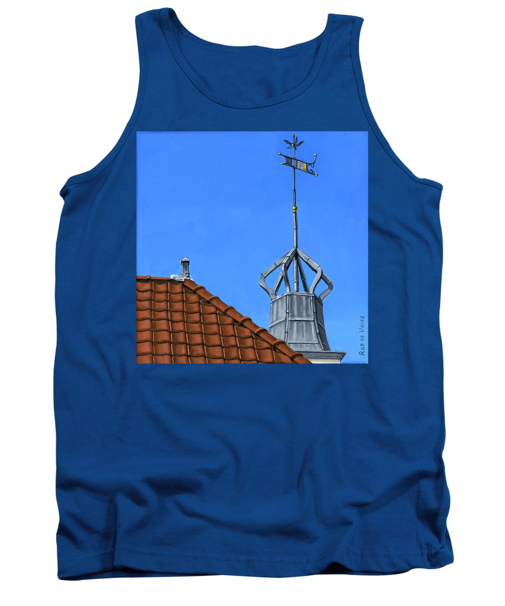 Architecture Tank Top featuring the painting Bureau Of Tourism Amsterdam by Rob De Vries